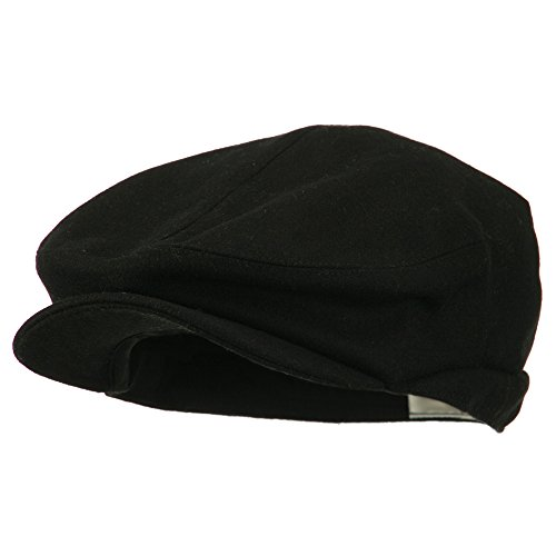 e4Hats.com Big New Wool Blend Ivy Cap - Black (XL-2XL)