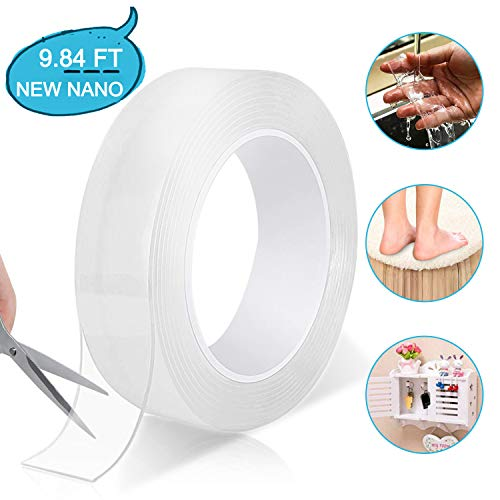 Reusable Traceless Removable Transparent Double Sided Adhesive Tape 3 Meters