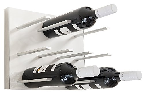 STACT Wall Mounted Wine Rack – Pure White