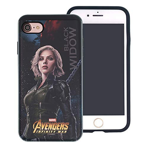 iPhone 6S Plus/iPhone 6 Plus Case Marvel Avengers Infinity War Layered Hybrid [TPU + PC] Shock Absorption Bumper Cover for [ iPhone 6S Plus/iPhone 6 Plus ] Case - Black Widow
