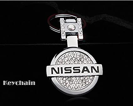 17c5ca9996eb Amazon.com  Rhinestones Bling Premium High quality Metal Alloy Car Key  Chain Crystals Double Sided Keychain with Gift Box (Nissan)  Automotive
