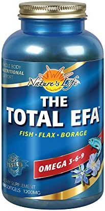Health From The Sun, The Total EFA Maximum Omega 3-6-9, 180-Count