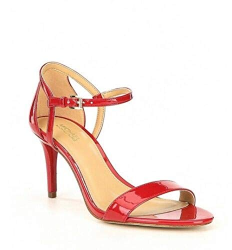 Sandals Michael Kors Toe Open (Michael Michael Kors Womens Simone Open Toe Special Occasion, Scarlet, Size 6.0)