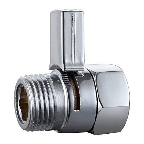 (Aquafaucet S-004 Shower Head Shut-Off Valve Brass Long Handle, Polished Chrome)