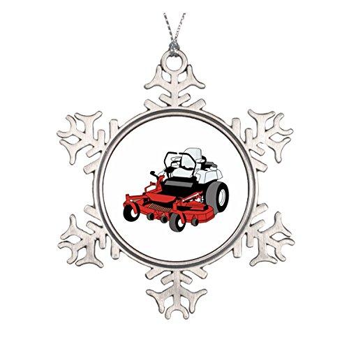 Yilooom Lawnmower Ceramic Round Christmas Ornament [Kitchen]