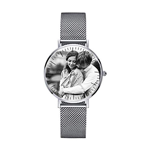 Custom Watches for Men & Women with Custom Diamond Watch Photo and Name,Personalized Gift