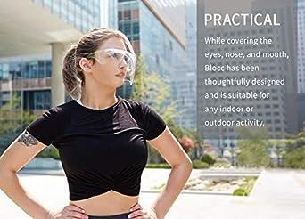 visera facial transparente ajustable de pl/ástico resistente para prevenir la saliva vapores de aceite A Visera protectora de cara completa