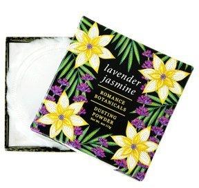 Greenwich Bay LAVENDER JASMINE Dusting Powder with Puff, Romance Botanicals 4 oz ()