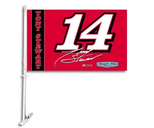 NASCAR Tony Stewart Car Flag with Wall Bracket