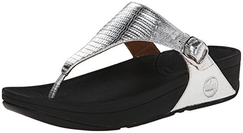 FitFlop Women's The Skinny Flip-Flop Silver clearance free shipping brand new unisex cheap price outlet explore outlet high quality comfortable ySzHQsCl4