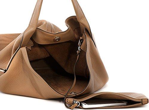 COCCINELLE, sacs à main femmes, sacs d'épaule, poches frontales, sacs hobo, étui à clé, cuir, 31 x 38 x 12 cm (H x L x P)