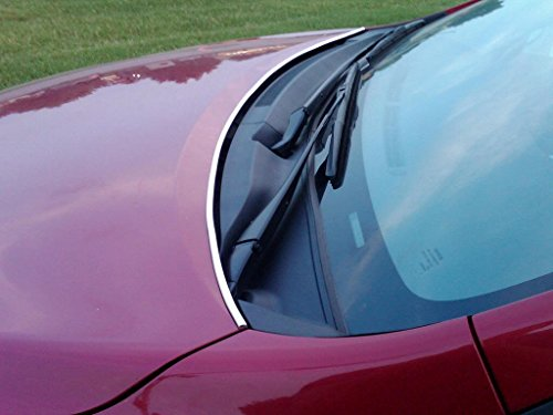TRUE LINE Automotive Chrome Hood Trunk Trim Molding Kit