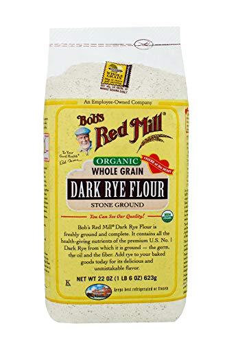 Bob's Red Mill Organic Dark Rye Flour, 22 Oz (4 Pack)