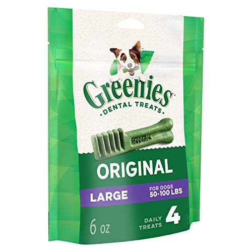 GREENIES Original Large Dog Natural Dental Treats - 6 Ounces 4 Treats