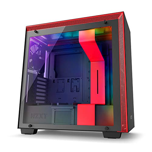 NZXT H700i – ATX Mid-Tower PC Gaming Case – CAM-Powered Smart Device – Tempered Glass Panel – Water-Cooling Ready – Black/Red – 2018 Version