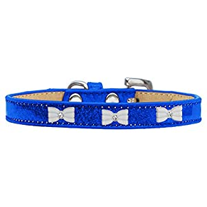 Mirage Pet Products 633-6 BL12 White Bow Widget Blue Ice Cream Dog Collar, Medium Click on image for further info.