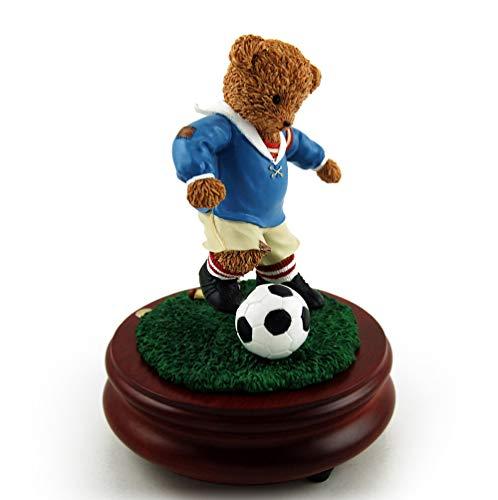 Thread Bears - World Cup Soccer Threadbear Musical Figurine - Over 400 Song Choices - Talk to the Animals