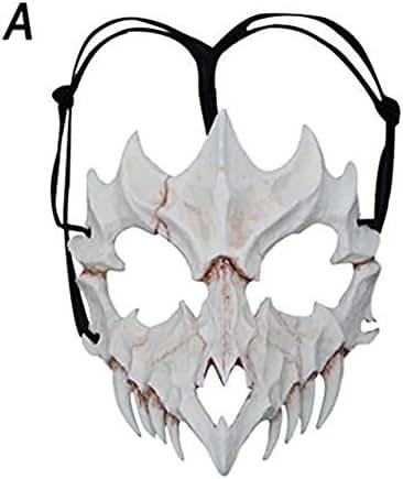 BBFairy Resin Half Face Masks - Unisex Halloween Props Cosplay Mask, Festival Mardi Gras Mask