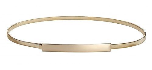 Women Skinny Belt Chain Elastic Punk Chain Wedding Belt Gold Waistband
