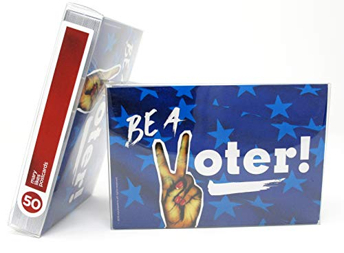 """Political Postcards: Set of punky peace sign""""Be A Voter"""" postcards, perfect for writing to your reps or get out the vote (50)"""