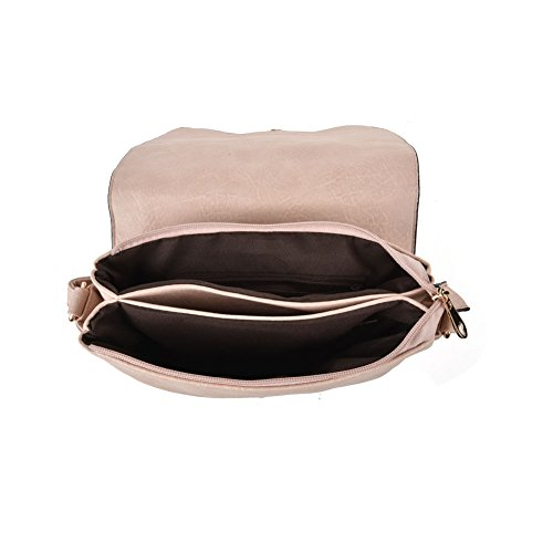 Femmes à Over bandoulière sac Flap PU à Simple GLITZALL Abricot main Crossbody cuir Vintage Sac en AwBd44q