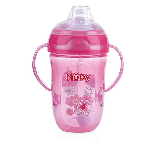 Nuby 360 2 Handle Comfort Cup, Girl, 9 Ounce