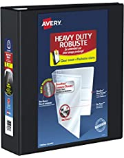 "Avery Heavy Duty View 3 Ring Binder, 3"" One Touch Ring, Holds 8.5"" X 11"" Paper, 670-Page Capacity, 1 Black Binder (79693)"