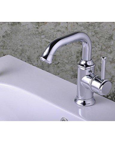 Zeitgenössische verchromt Einhand-Loch Waschbecken Wasserhahn