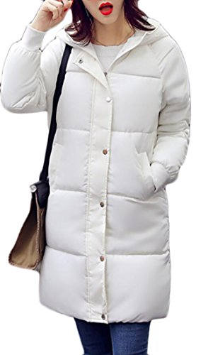 Smile Coat Jacket Hooded Padded Warm Quilted White Patch Womens Down EKU y8B4xqwaEx