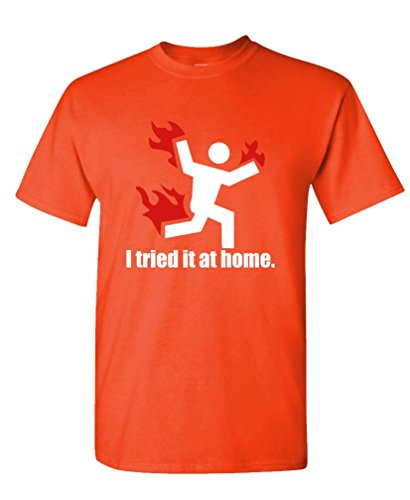 I-TRIED-IT-AT-HOME-science-project-funny-Mens-Cotton-T-Shirt-S-Orange