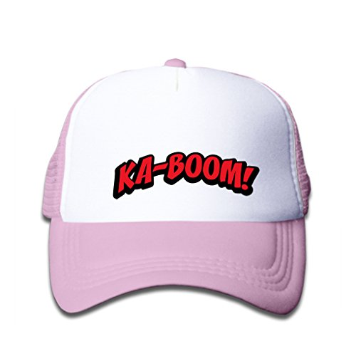 StyleWe Baseball Caps Ka-Boom! Red Letters Hat (Best Nespresso Refillable Capsules)