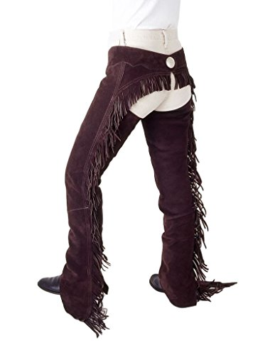 Tough-1 Show Stopper Equitation Chaps Large Brown ()