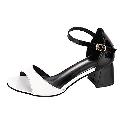 ♖Loosebee♜ Ladies Fashion Buckle Sandals Casual Summer Wedge With Open Toe Shoes High Heels -