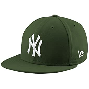 New York Yankees Basic Olive 59Fifty Fitted Cap 7 5/8