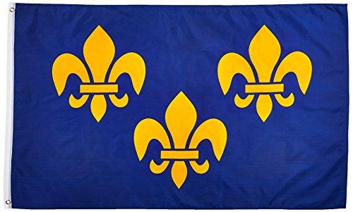 New 3x5 Blue Fleur De Lis Flag 3 x 5 French Banner