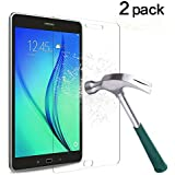 TANTEK Galaxy Tab A 8.0 Screen Protector, Anti-Bubble,HD Ultra Clear,Scratch Resist,Tempered Glass Screen Protector for Samsung Galaxy Tab A 8.0 (2015),-[2-Pack]