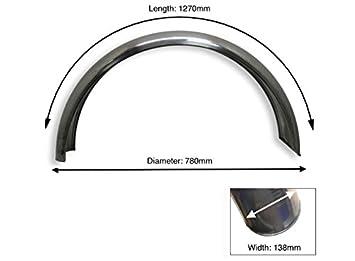 Rear Aluminuim Mudguard C profile diameter 780mm width 138mm length 1270 mm