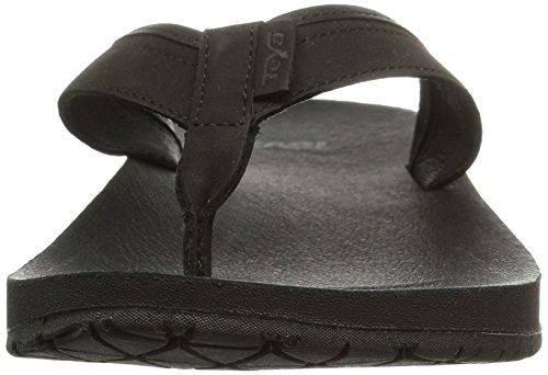 Teva Azure Flip Leather W's, Chancletas para Mujer Negro (Black)