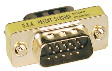 Tripp Lite P158-000 Compact Gold Gender Changer - VGA gender changer - HD-15 (M) - HD-15 (M) ()