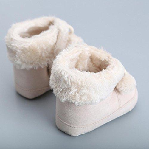 Zapatos Para Bebé,Xinantime Primeros Pasos Arranque Lindo Algodón (17, Rosa) marrón