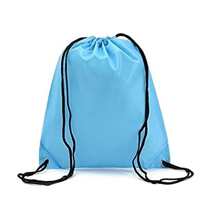 Bonaweite Drawstring Bag Folding Sport Backpack Canvas Nylon Gym Training Sackpack Storage Portable Use