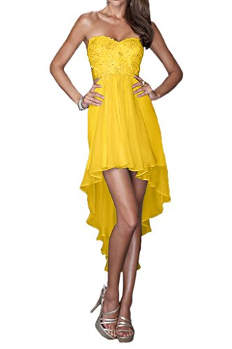 Avril Fabulous Dress Dress Yellow Crossed Homecoming Strapless Cocktail Lo Lace Hi Back xFxrwv
