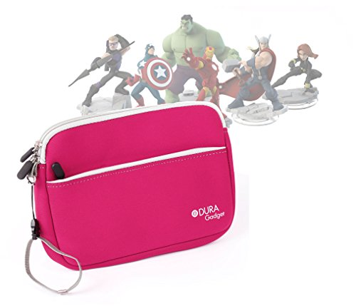 DURAGADGET Cool and Colourful Carry Case (Pink) - Suitable for Disney Infinity Figures (Disney Infinity Figure Display Case 3 Pack)