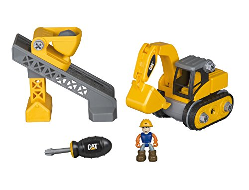 Toy State Caterpillar CAT Junior Operator Work Site Machine Pairs Dump Excavator/Sifter Loader Construction ()