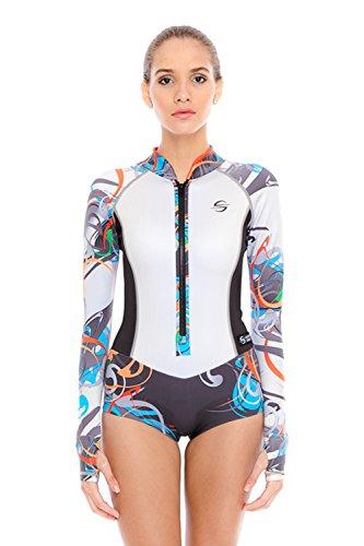 Platinum Sun Lycra Women Dive Skin Shorty Delphin L