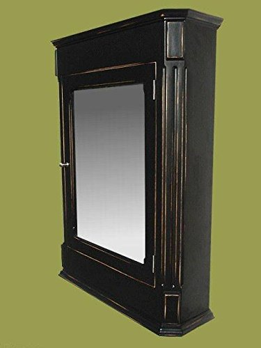 Ludwig Antique Black Medicine Cabinet / Surface Mount / Solid Wood & handcrafted. by D&E Wood Craft Cabinets (Image #3)
