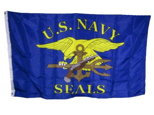 They can be used indoors or outdoors.3x5 U.S. Navy Seals Military Blue Gold 150D Polyester Flag 3'x5' House Banner.The authentic design is based on information from official sources