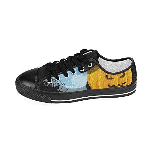 D-story Custom Happy Halloween Zucca Donna Classica Scarpe Di Tela Moda Sneaker Multicoloured18