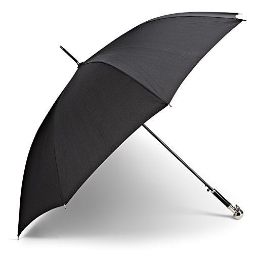 Abbott Collection Black Skull Handle Umbrella (Skull Umbrella)