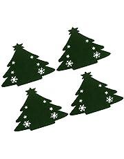 BAOLE Jul bestickhållare, 4 stycken julgransmatare gafflar porslin väskor julfest dekoration för hem restaurang matsal, 20 x 18 cm ingenting